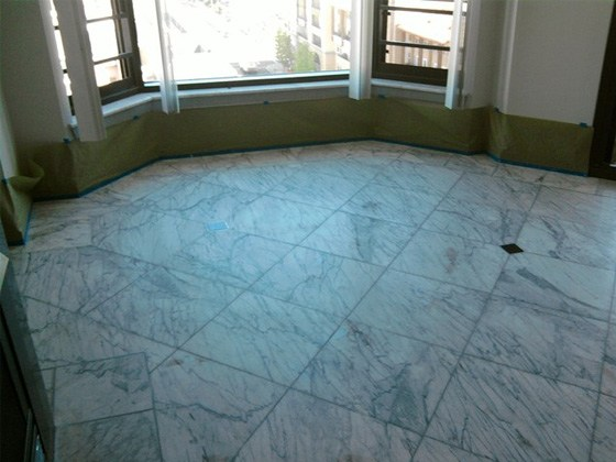 Marble Floor Polishing Before