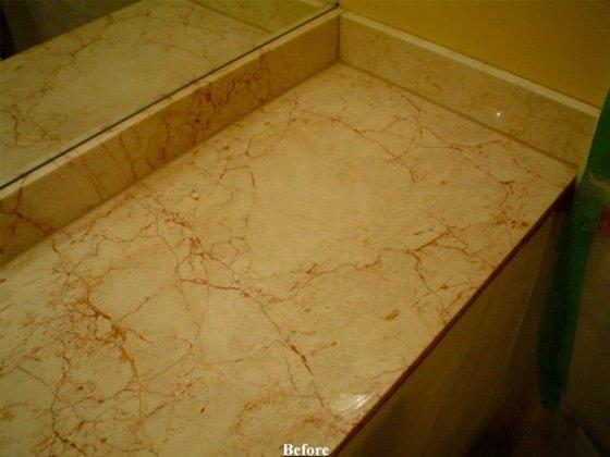 Marble Vanity Top Before