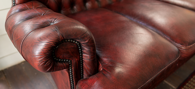 Clean leather couch in Naples FL