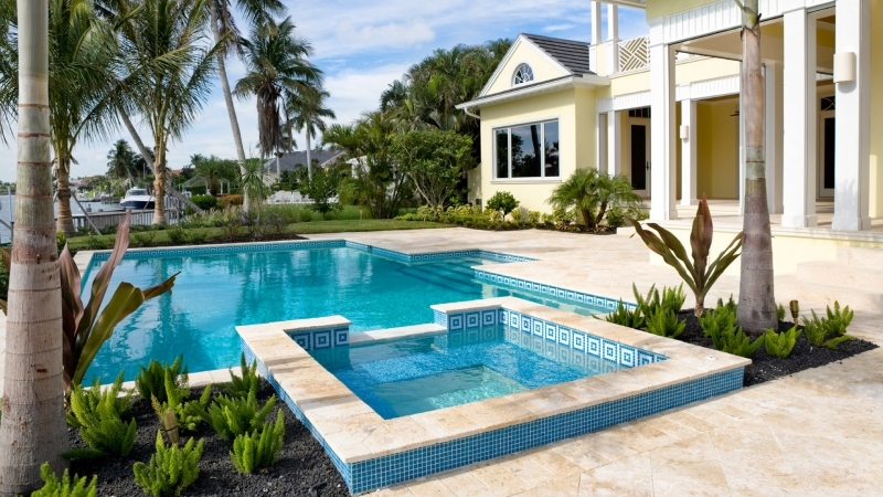 Travertine Is The Perfect Stone Choice For Pool Areas In SW Florida