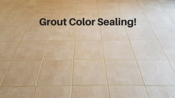 Grout Color Seal and Stain - Permanent Results GUARANTEED!